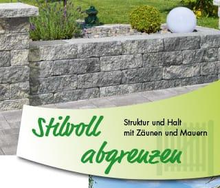 Stilvoll abgrenzen - Struktur und Halt mit Zäunen und Mauern