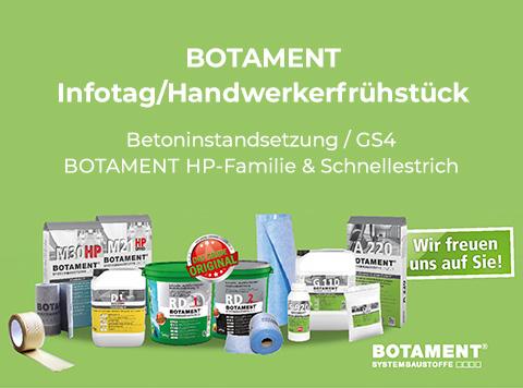 Botament Handwerkerfrühstücke / Infotage im November