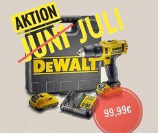 Preisknaller im Juni: DeWalt Bohrschrauber